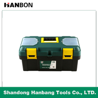 High Quality 13'' 16'' 19'' Two Layers Plastic Tool Boxes,Plastic Tool Case