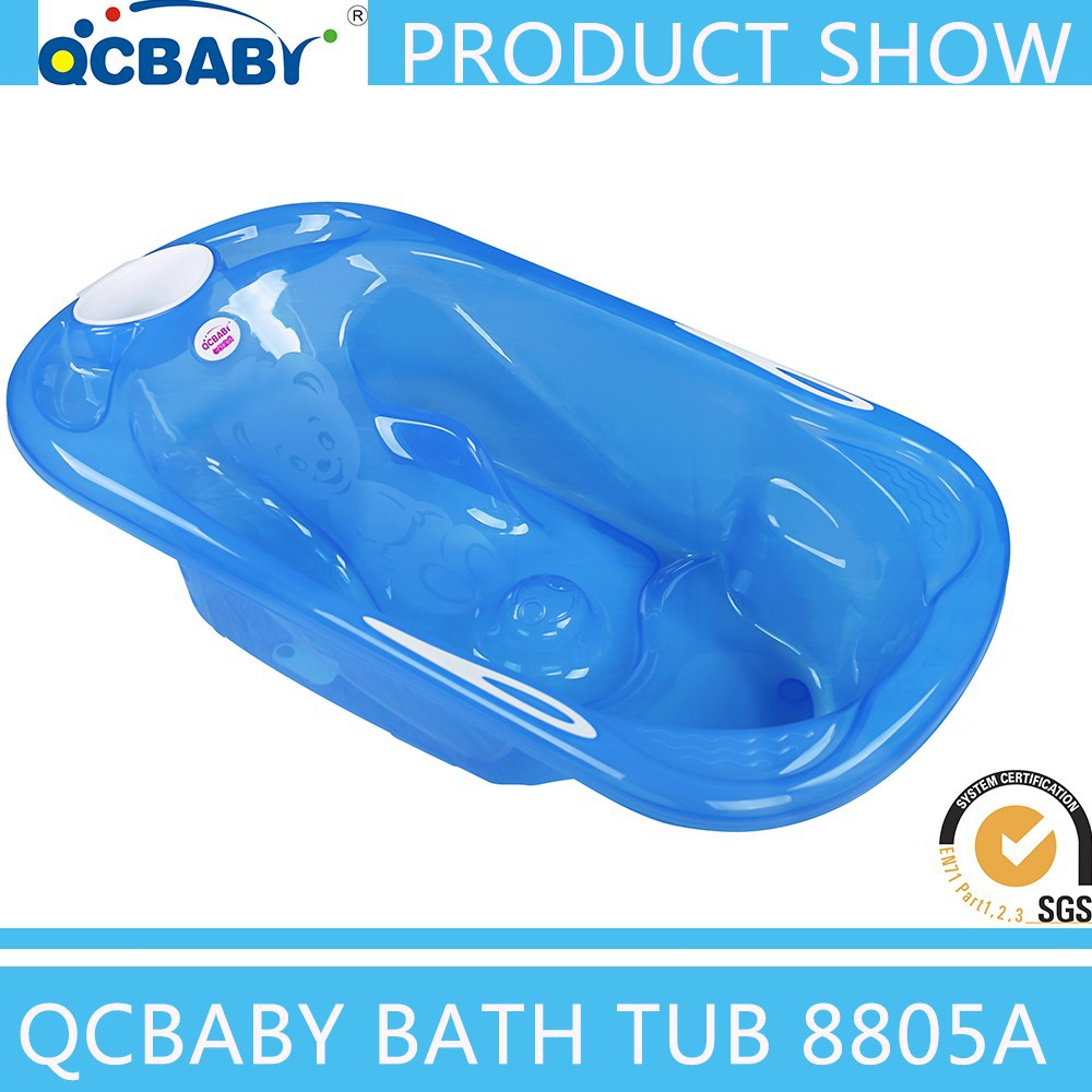 2017 New Products Big Practical Plastic Baby Bath Tub Can Add Stand ...