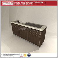 Decoration Supermarket Furniture Wooden Counter Cashier