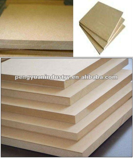 CE plain MDF 1220*2440mm for decoration and furniture