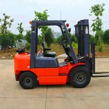 2 ton 2000kg LPG GAS forklift with 3 stage mast