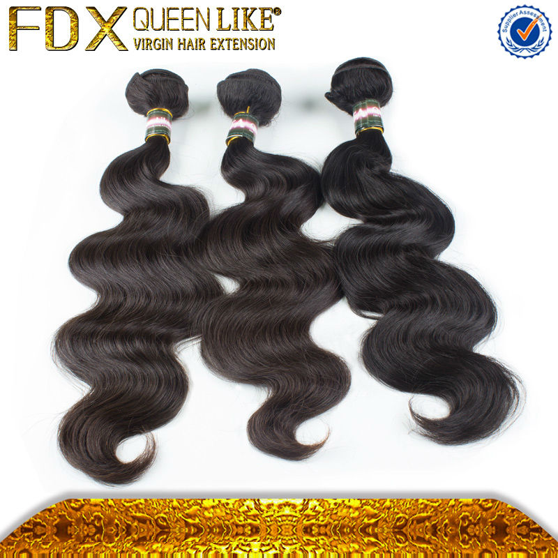 2014 new come hightest quality No Chemical human hair from china guangzhou fdx beautiful hair firm with Fast Shipping