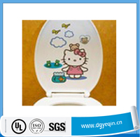 New design bathroom decal removable creative vinyl toilet sticker,home decor art toilet stickers