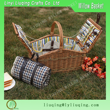 Picnic Time Cutlery Basket Cheap Gift Woven Wholesale Wicker Picnic Basket