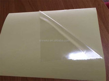 Transparent pvc film adhesive label sticker paper plastic sheet 2015