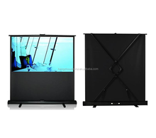 65''Cheap portable fast folding floor stand movie projector screen for outdoor