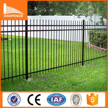 Factory supply pvc coated decorative Ornamental Wrought Iron Fences