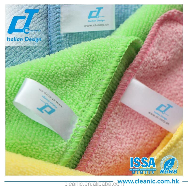 Microfiber towl 35*35cm 300gsm microfiber cleaning cloth