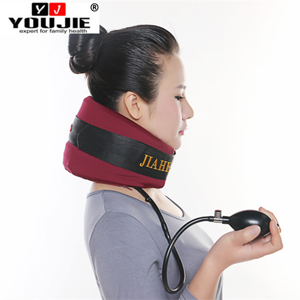 2016 air pump cervical neck traction rest massager for cervical pain family use
