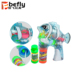 Wholesale light up plastic fish bubble gun for kids play