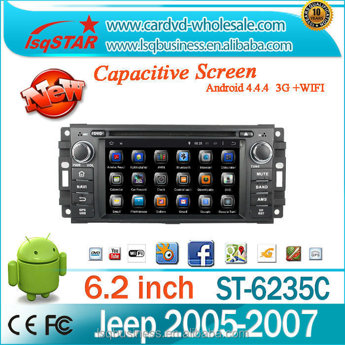 Android 4.4 Quad core with HD 1024*600 Car Audio Stereo Radio for Chrysler 300C/Dodge/Jeep