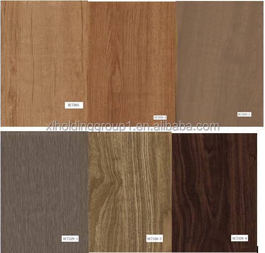 wood texture PVC floor tile for interior design