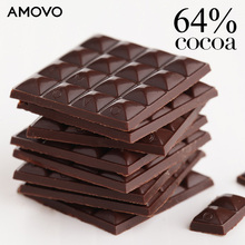AMOVO 64% cocoa mass belgian dark candy chocolate for wholesale