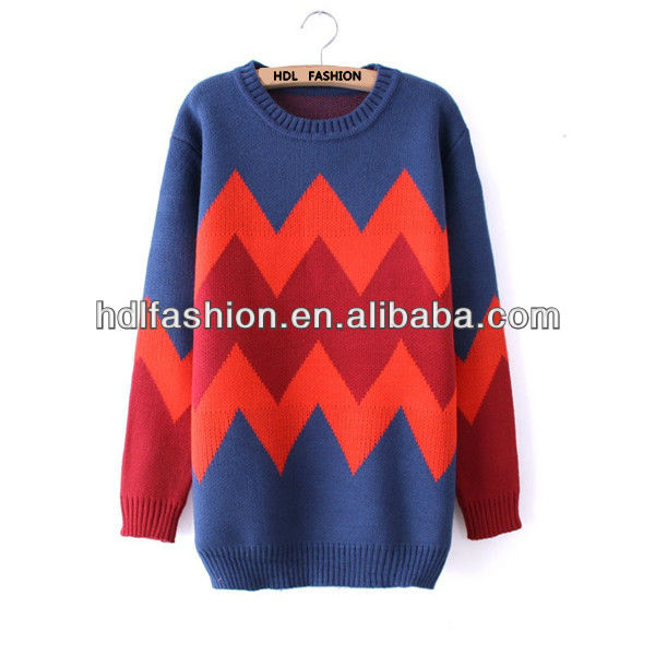 Latest design fashion winter pullover sweater for ladies