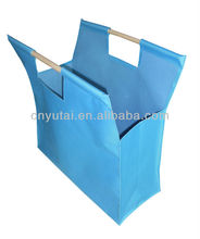 supermarket easy bag with wooden handle(YT001)