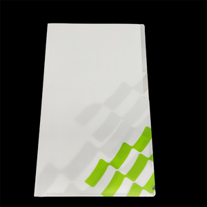 wholesale colorful document holder L shape clear pp plastic file folder for school and office