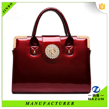Big promotional west elegant lady deep red handbag only 16.7$