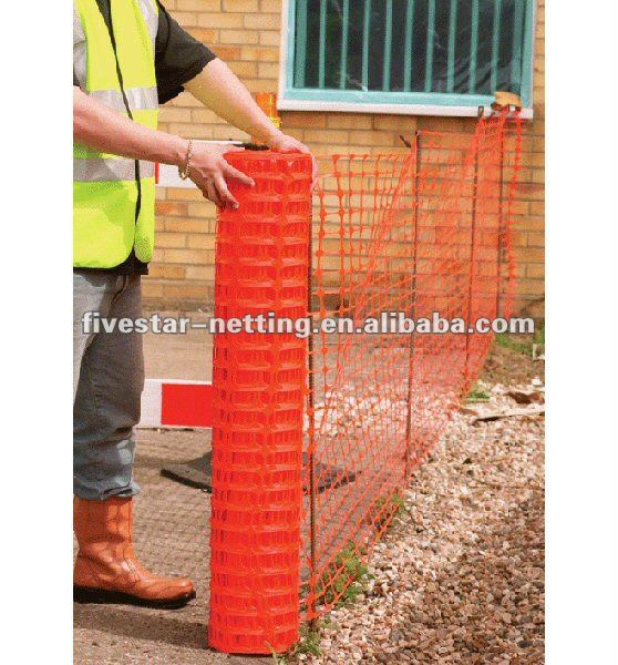 colorful plastic snow fence / plastic square netting / safety warning barrier factory