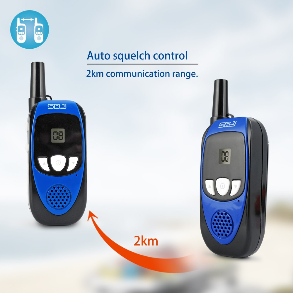 small outdoor two way radio 2km talking range mini waki taki walkie-talkie