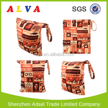 Alva New Arrival Diaper Bags CustSACVomized Wetbags Waterproof and Reusable Diaper Wetbag