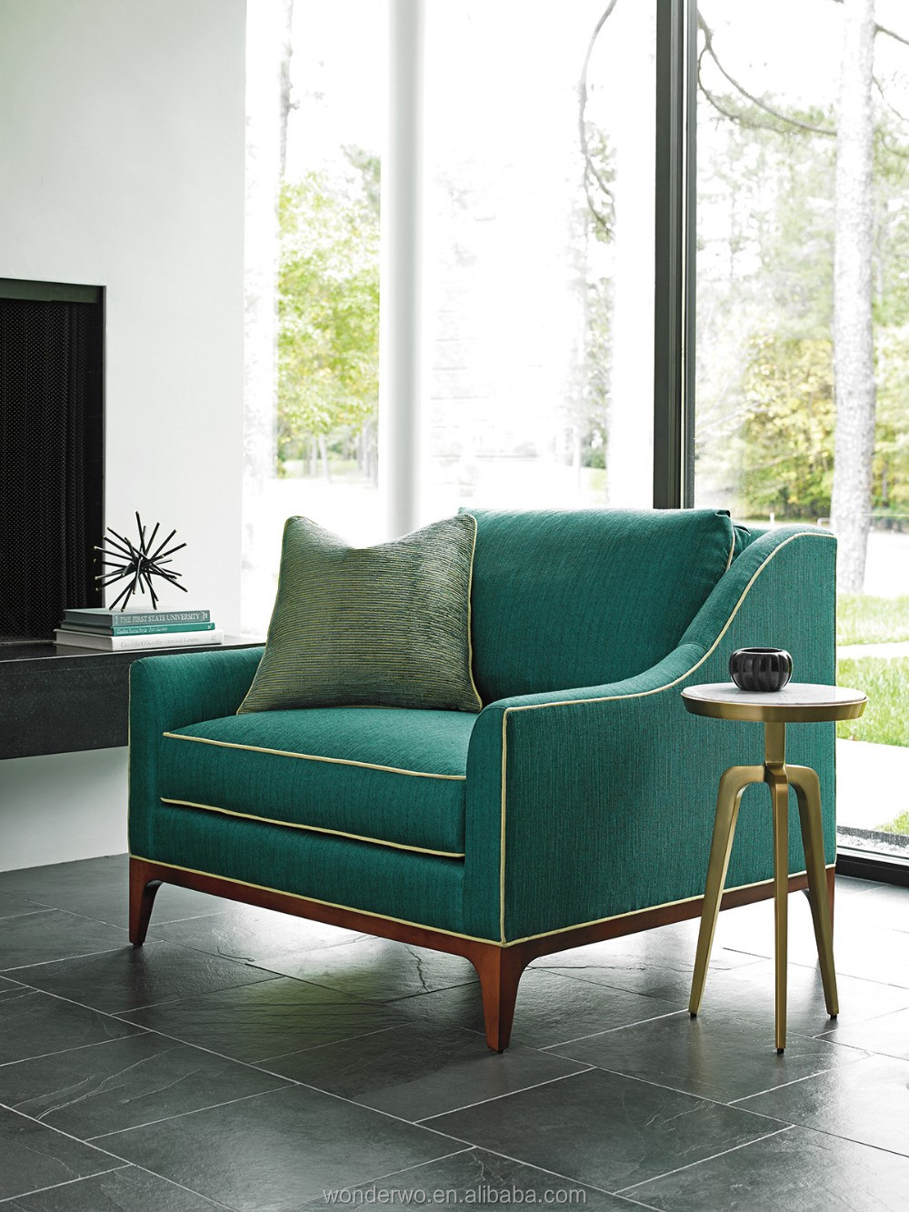 living room stools. Greenstone Chair living room chair single sofa with ultra down seat cushion