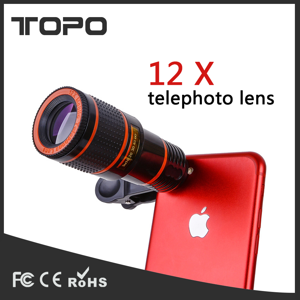 12x Optical Zoom Long Focus Universal Small Portable Mobile Phone Monocular Telescope