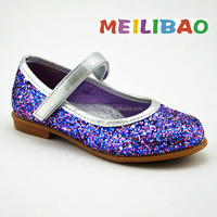 2016 popular fashion shimmering kids dress shoes
