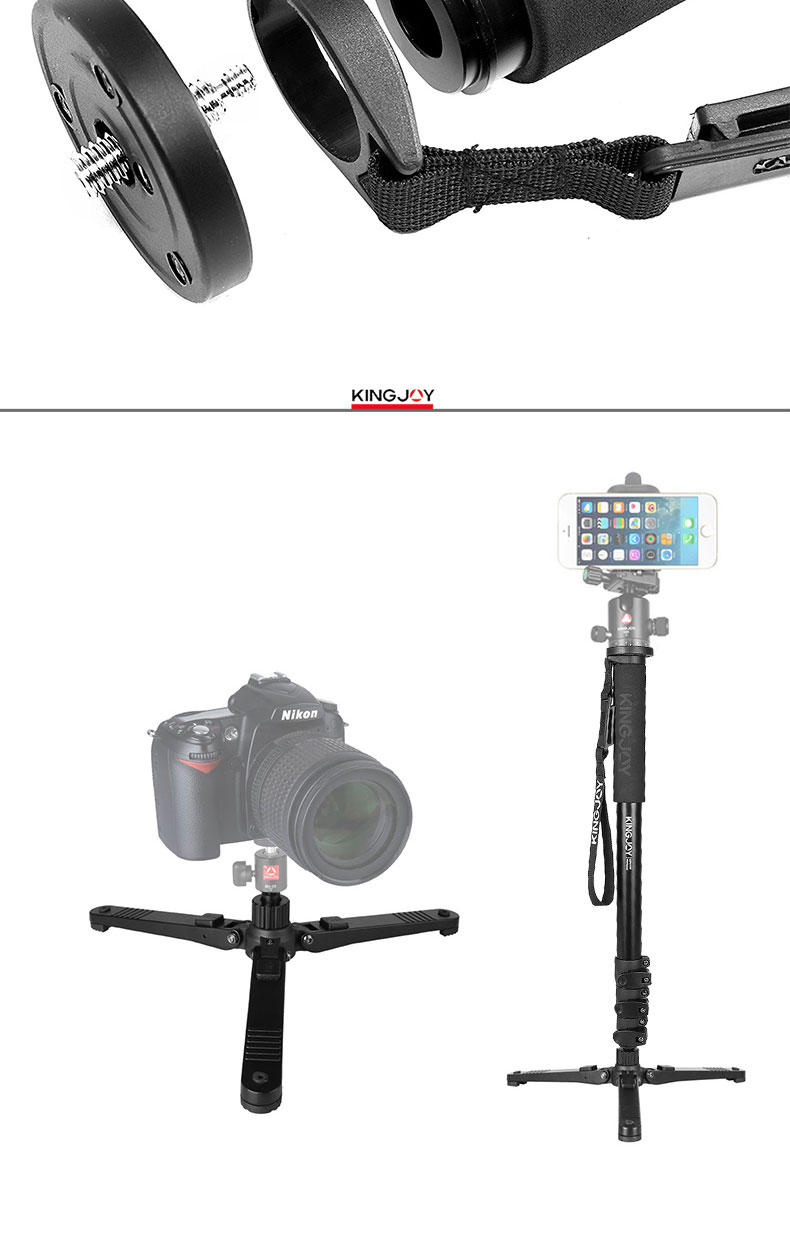 Photographe aluminum new monopod for photography with leg base professional