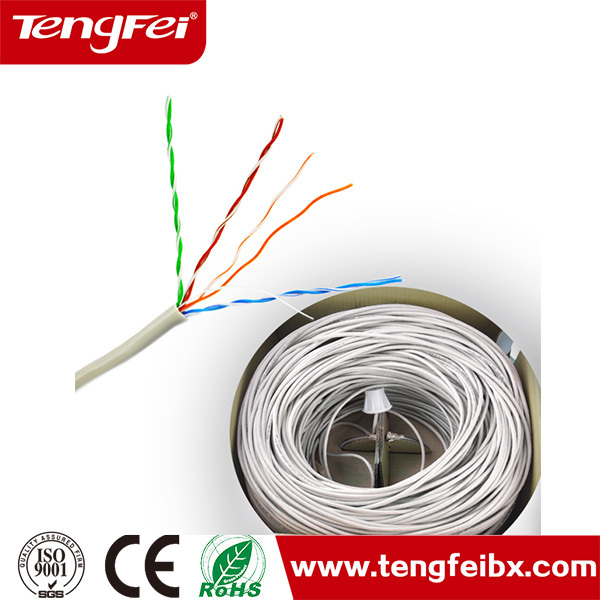 Flame proof CMR outdoor cable cat5e cat6 utp twisted 4 pair ethernet network lan cable