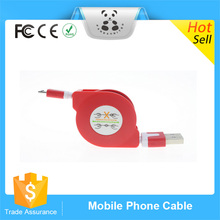 Retractable Data Cable Quality Connector USB Charge Sync Cable For Both Apple And Android Devices