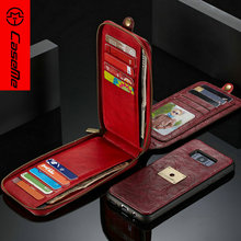 Shenzhen Manufacture Smartphone Case for Samsung S8 Android PU Leather Flip Case for iPhone 7 plus