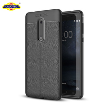 Leather Skin Cover For Nokia 5 Gel TPU Phone Case