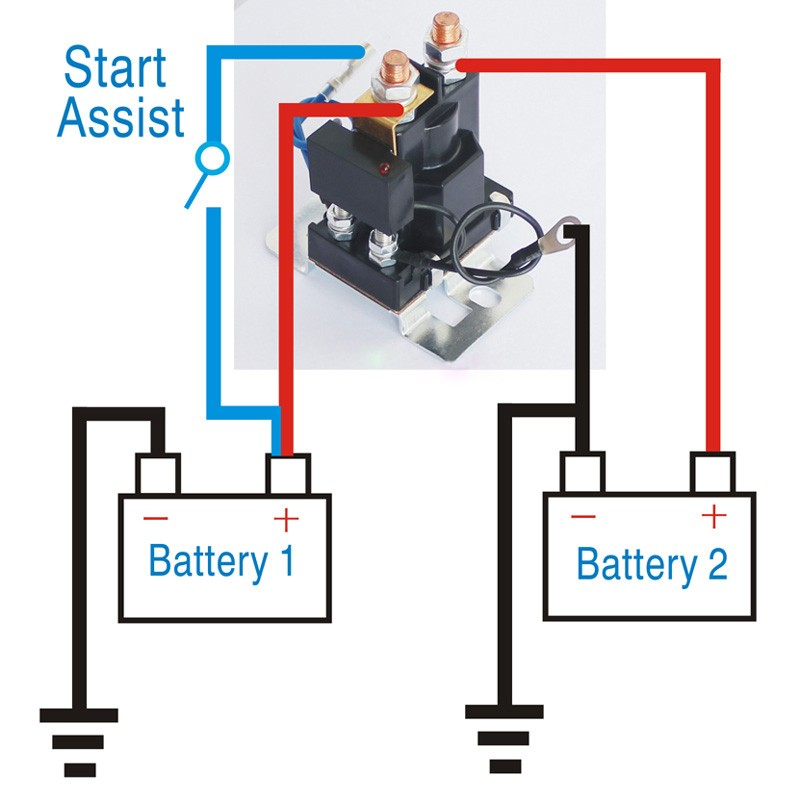 12v 200 Amp Battery Isolator Dual Battery Auto Increase ...