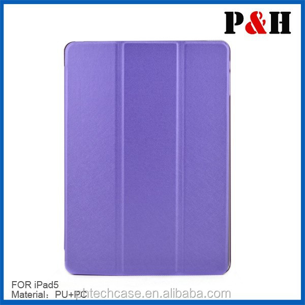 2015 new Smart cover case for Ipad air 2, pu leather case for ipad air 2