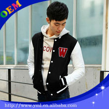 Wholesale satin baseball cool / cotton jackets for boys