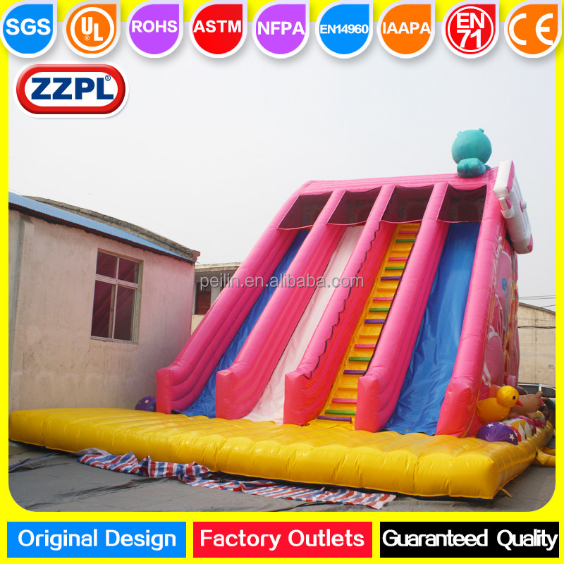Attractive Candy inflatable dry slide, giant inflatables slide