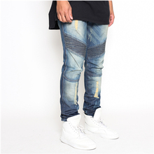 man Slim Biker denim Jeans pants italian jeans brand names