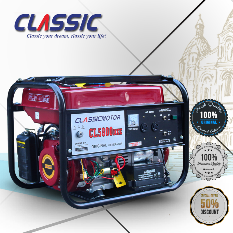 CLASSIC CHINA Portable Silent Power Generator Ideal Power Tools, CE approved ep6500 Gasoline Generator