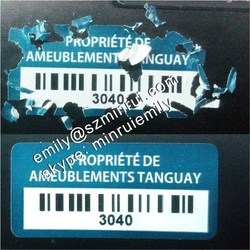 Custom strong adhesive tamper barcode security stickers, tamper evident barcode stickers