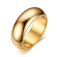 fashion titanium steel jewelry wholesale gold stainless steel ring for men women