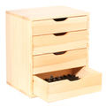 Wooden Desktop Organizer Storage Cabinet with 4 Drawers for holding essential oils