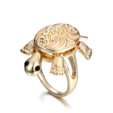 New design hot-sales item tortoise gold plated ring alloy glow in the dark finger ring