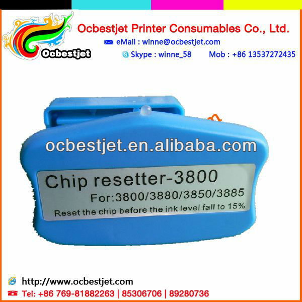 Waste ink tank Chip resetter for Epson 3850 3890 3800 3880 chip resetter