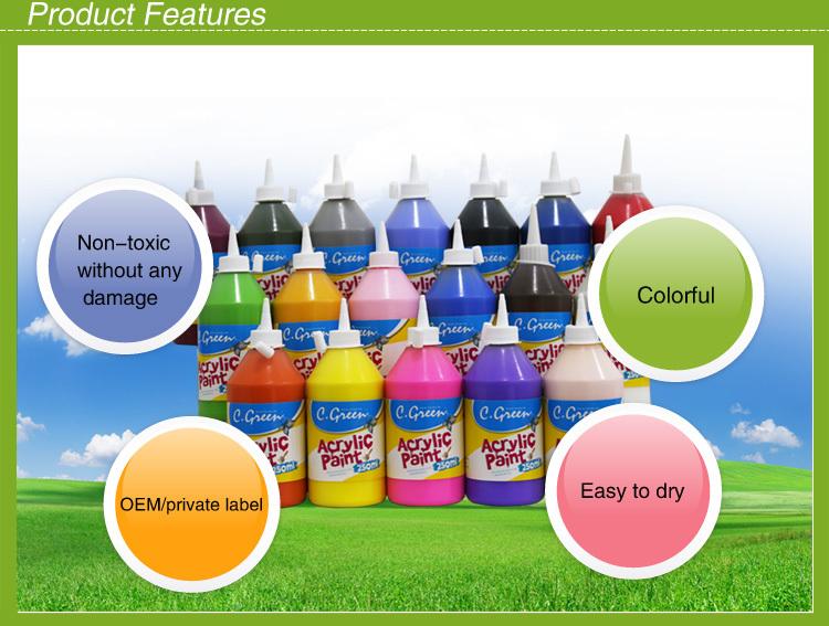 Eco friendly plastic bottle acrylic colour paint acrylic for Eco friendly colours for painting
