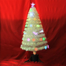 Pre-Lit 3' White Branch Fiber Optic Artificial Christmas Tree