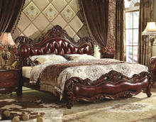 5 Years Warranty Royal Luxuary Classic Carved Sold Wood Bedroom Furniture(HB1-11)