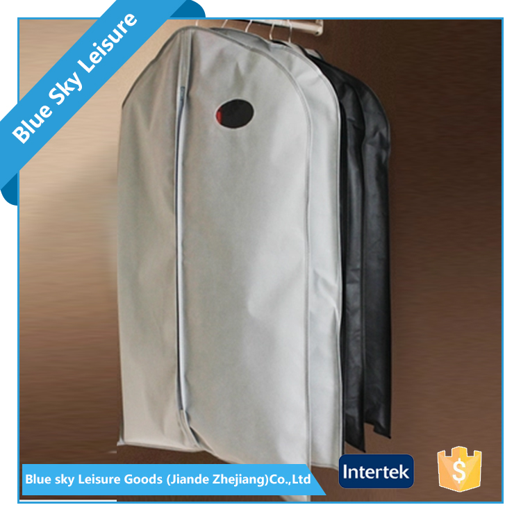 Wholesale Customized Foldable Suit Cover PP Non Woven Colorful Moisture Proof Clean Zippered Garment Bag