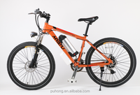Electric bike 26 inch 36v/10ah mid motor driving ebike with lithium battery and 7/21 speed transmission