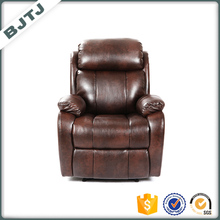 BJTJLuxury brown single leather sofa recliner single seater sofa chairs 70203