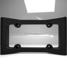Custom flexible rubber front bumper protection license plate frame covers for American car